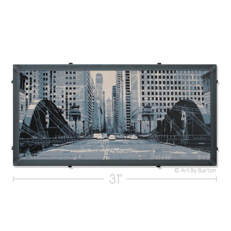 LaSalle Drive Bridge Silk Screen Print