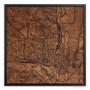 Alexandria Map on wood