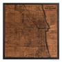 Chicago silkscreen map on wood