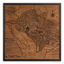 Washington D.C. map on wood