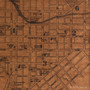 Lancaster map on wood