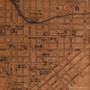 Lancaster map on wood