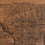 Philly city map on wood