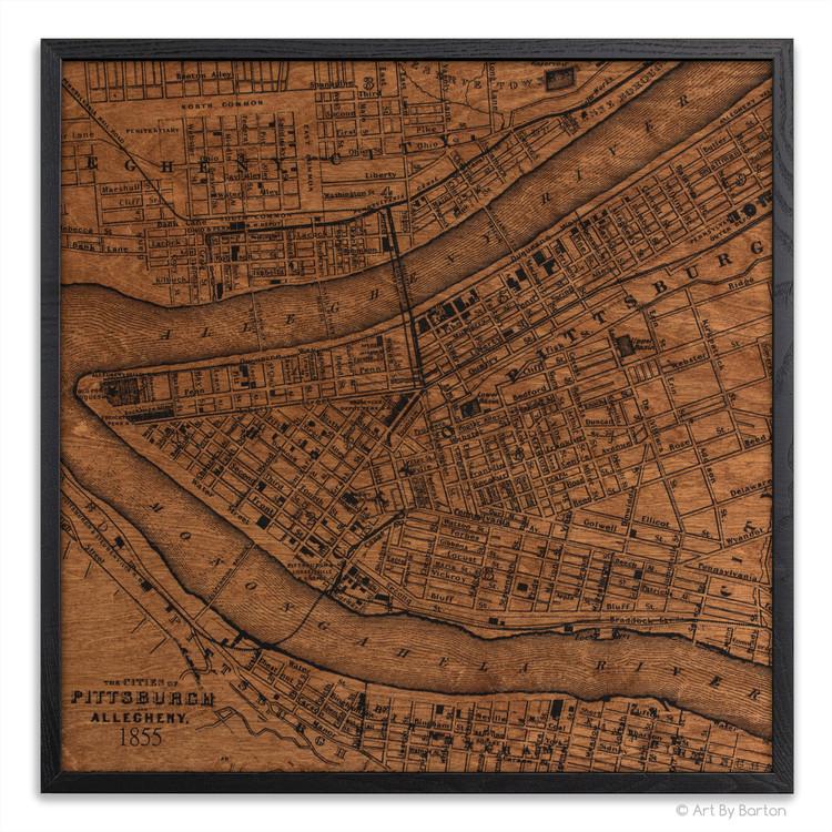 Pittsburgh silk screen map