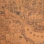 Baltimore Silkscreen printed map on wood