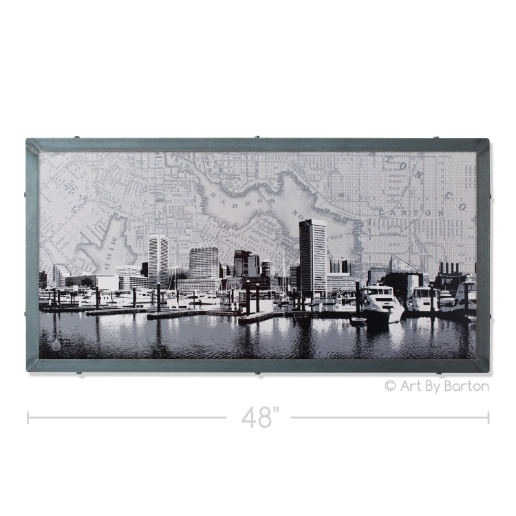 Baltimore Skyline with Artwork