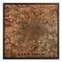 London Map - Silkscreen Print on Wood