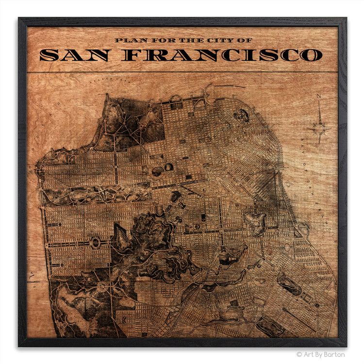San Francisco Map Silk Screen Print