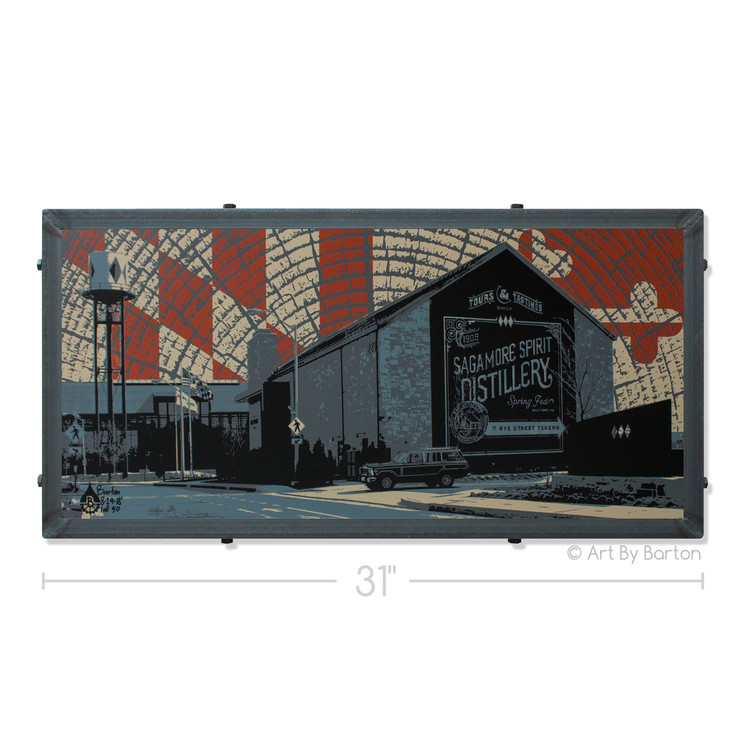 Sagamore Spirit Distillery Artwork by Charlie Barton