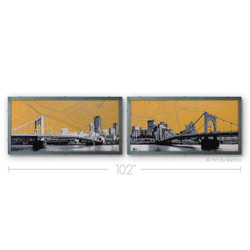 Pittsburgh Diptych Silk Screen Print