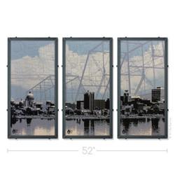 Harrisburg triptych wall art