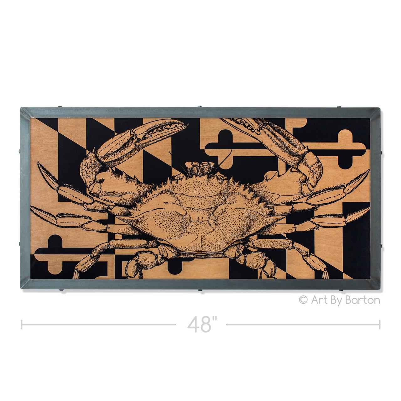 48 Maryland Crab Flag Artwork By Charlie Barton