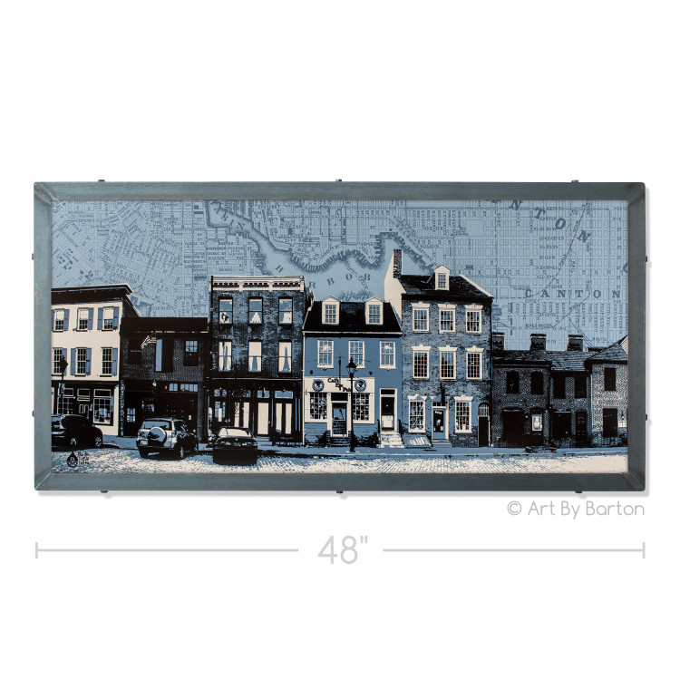 Fells Point Map Silk Screen Artwork