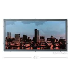 Sunset Skyline, Baltimore Silk Screen Print