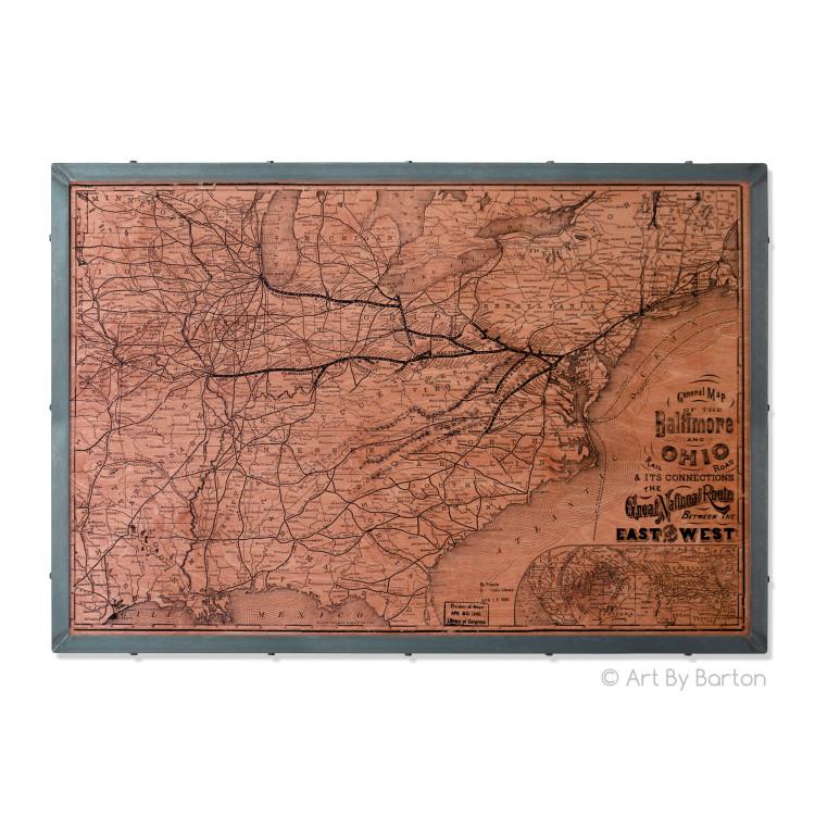 Historic Baltimore Ohio Rail Road Map