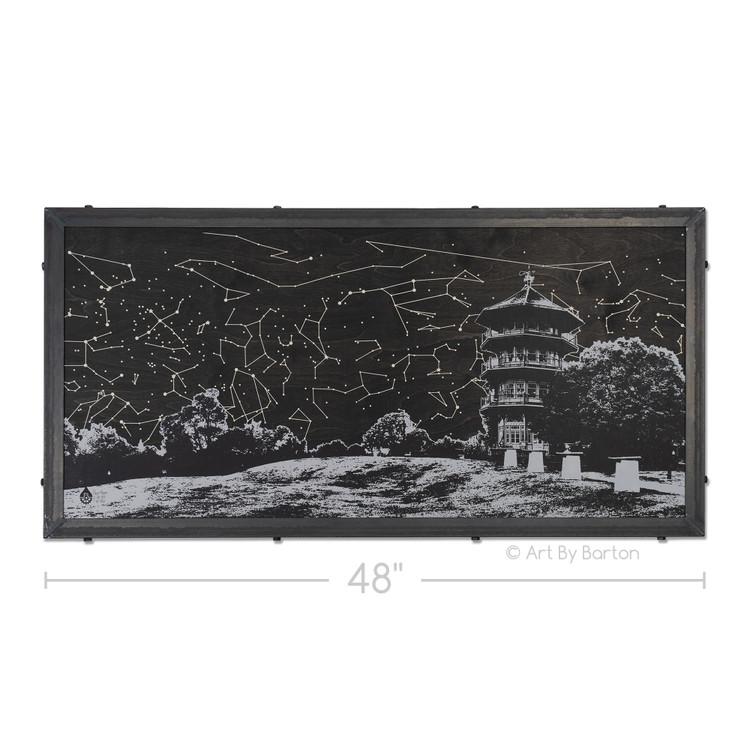 Nighttime Pagoda Baltimore Wall Art