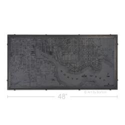 "48"" 1850s Baltimore Map"