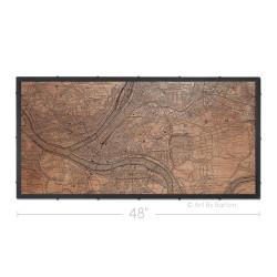 Pittsburgh Vintage Map