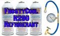 "R290 Refrigerant ""20 oz Equivalent"" - 3x Cans & Gauge Set Formally 22a $39.50 + $27.95 Hazmat"