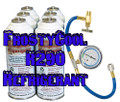 "R290 Refrigerant ""20 oz Equivalent"" - 6x Cans & Gauge Set Formally 22a 54.95 + 27.95 Hazmat"