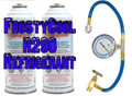 "R290 Refrigerant ""20 oz Equivalent"" - 2x Cans & Gauge Set Formally 22a"