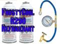 "R290 Refrigerant ""20 oz Equivalent"" - 2x Cans & Gauge Set Formally 22a $34.95 + $27.95 Hazmat"