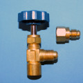 Easy grip Brass Can Tap 1/2'' F-Acme x 1/2'' M-Acme - R-134a hose (Female) with FC0407 adapter