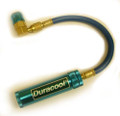Dye Injector 1/4 oz - 1/4  inlet fitting  C/W hose and R-134a low side quick disconnect
