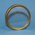 "Replacement Lens and Brass Ring (Bezel)  For 2 1/2""   Manifold Gauges (Set of 2)"