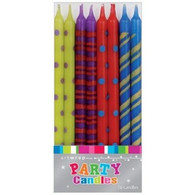 Artwrap Multi Coloured Pattened Birthday Candles