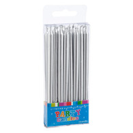 Artwrap Silver Birthday Candles
