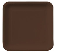Chocolate Brown Square Plates