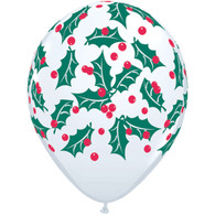 Christmas Holly Themed Latex Balloon
