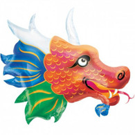 Foil Supershape Chinese Dragon Head Balloon | Anagram