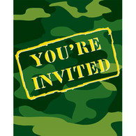 Camo Gear Party Invitations