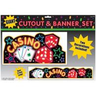 Casino Giant Cutout & Banner Set | Amscan