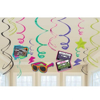 1980's Theme Swirl Decorations | Amscan