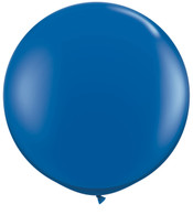 Latex Round 90cm Fashion Dark Blue Balloon | Qualatex