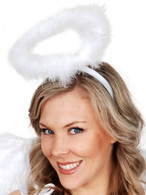 White Marabou Halo Headband | Smiffy's