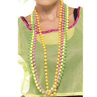 Strings of Neon 80's Beads Necklace | Smiffy's