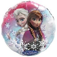 Frozen Elsa & Ana Snowflake Round Foil Balloon