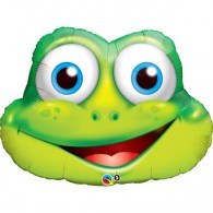 Foil Supershape Smiling Froggy Face Balloon | Qualatex