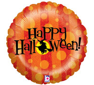 Foil Round Haunted Happy Halloween Pumpkin Balloon | Betallic
