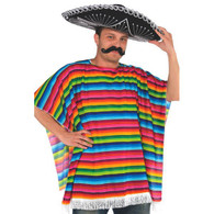 Multicoloured Mexican Poncho | Dr Tom's