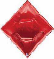 Foil Supershape Casino Red Diamond Balloon   Betallic