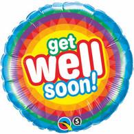 Get Well Soon Rainbow Foil Balloon