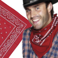 Cowboy Bandana Neckerchief Red   Smiffy's