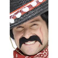 Mexican Bandit Black Moustache | Smiffy's