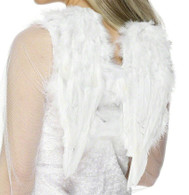White Small Feather Angel Wings | Smiffy's