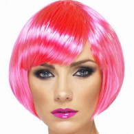 1980's Babe Neon Pink Wig | Smiffy's